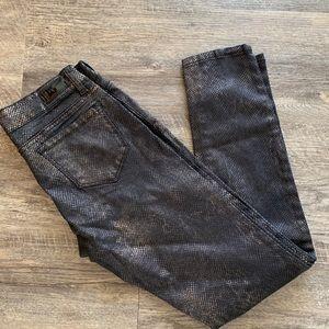 i Jeans by buffalo snake skin metallic print
